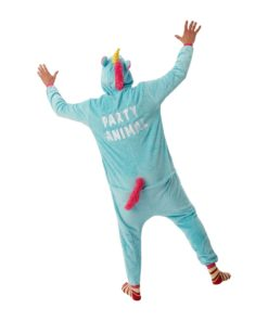 Dieren onesie eenhoorn party animal