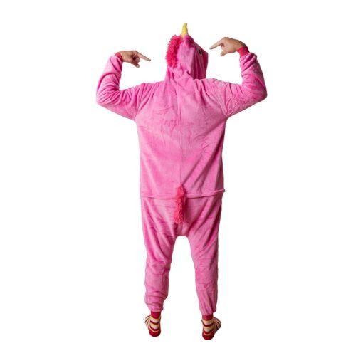 Dieren onesie unicorn achterkant