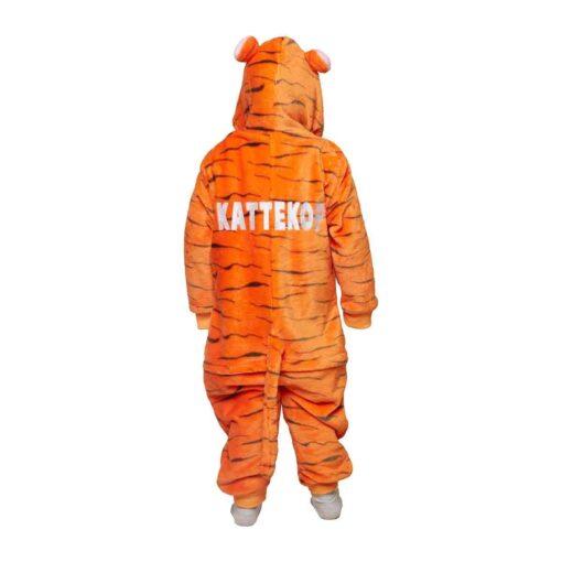 Kinder onesie tijger kattekop