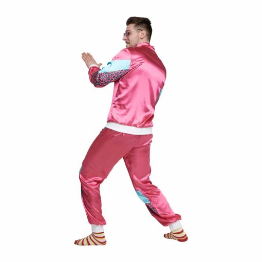 Fout trainingspak 80s tijgerprint roze achterkant