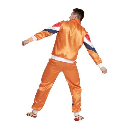 Fout trainingspak 80s holland oranje achterkant