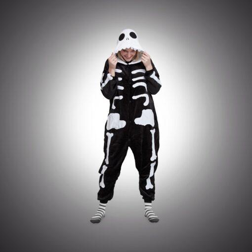 Wasted monkey skelet onesie geen ruggengraat