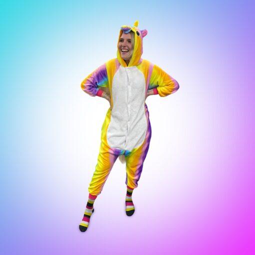 Wasted monkey unicorn onesie rainbow knuffelbeest