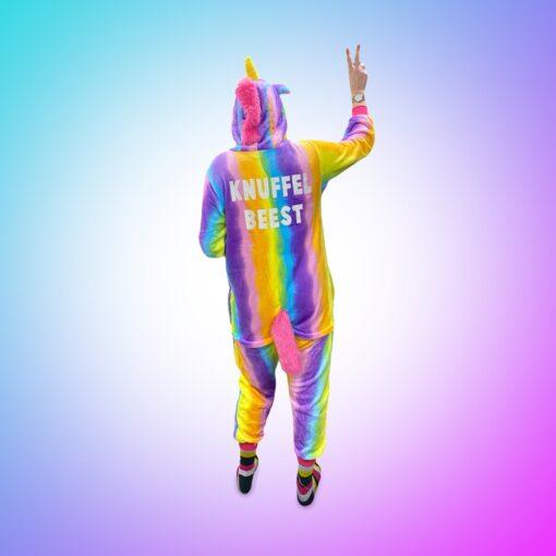 Wasted monkey unicorn onesie rainbow knuffelbeest achterkant