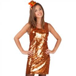 Disco glitter jurk goud
