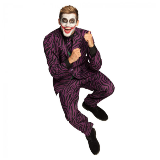 Dridelig carnavalspak the joker paars