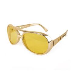 elvis bril goud zijkant