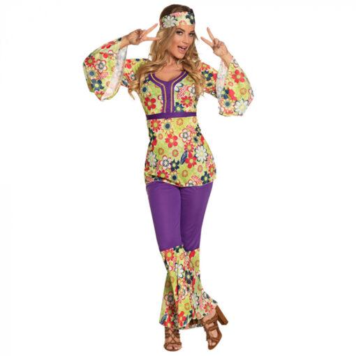 Hippie bloemen jurk