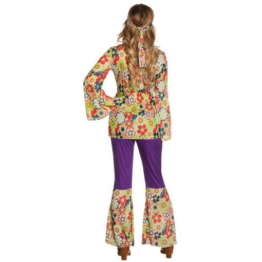 Hippie bloemen jurk achterkant
