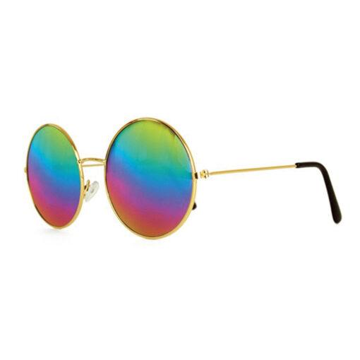Hippie bril regenboog zij