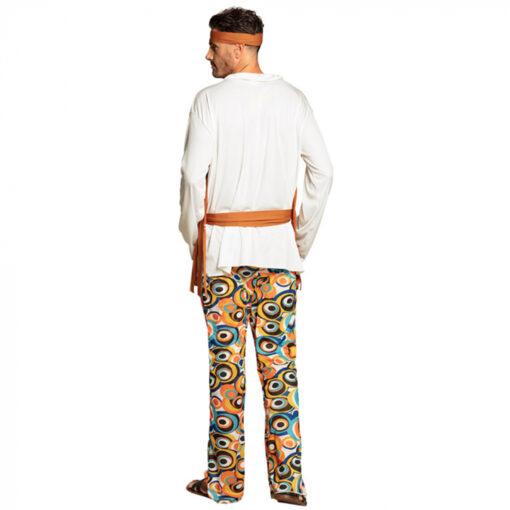 Hippie flower kostuum mannen achter
