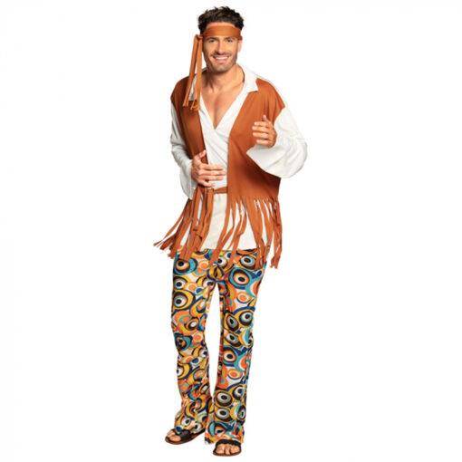 Hippie flower kostuum mannen voor
