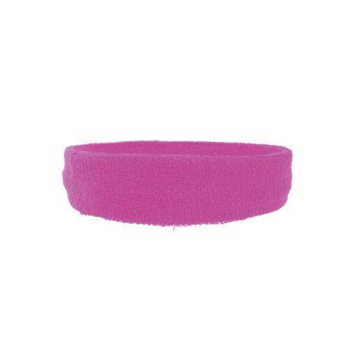 hoofdband zweetband neon roze