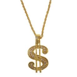 dollar teken ketting goud