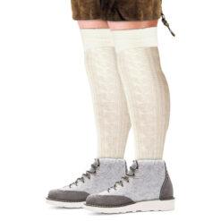 Lange tiroler sokken ecru