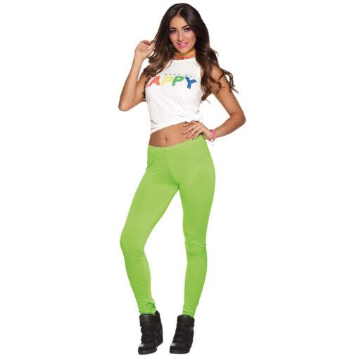 Legging neon groen sfeer