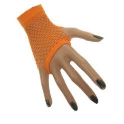 Net handschoen fluor oranje