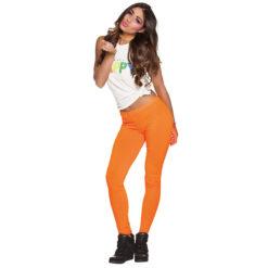 Oranje legging sfeer