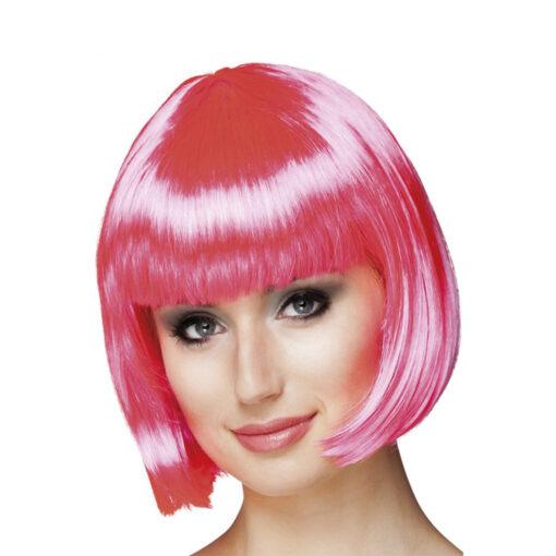 roze pruik bobline