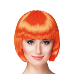 Pruik bobline oranje