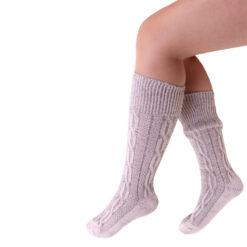 Tiroler sokken grijs kort