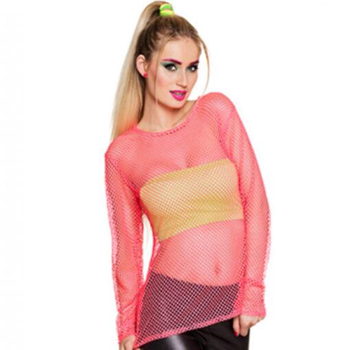 Visnet shirt roze