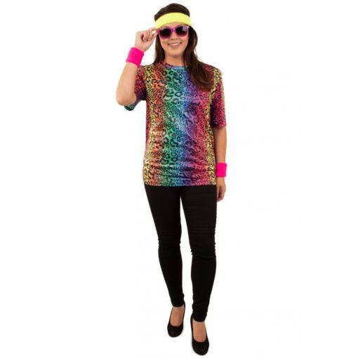 T-shirt neon panter unisex dame